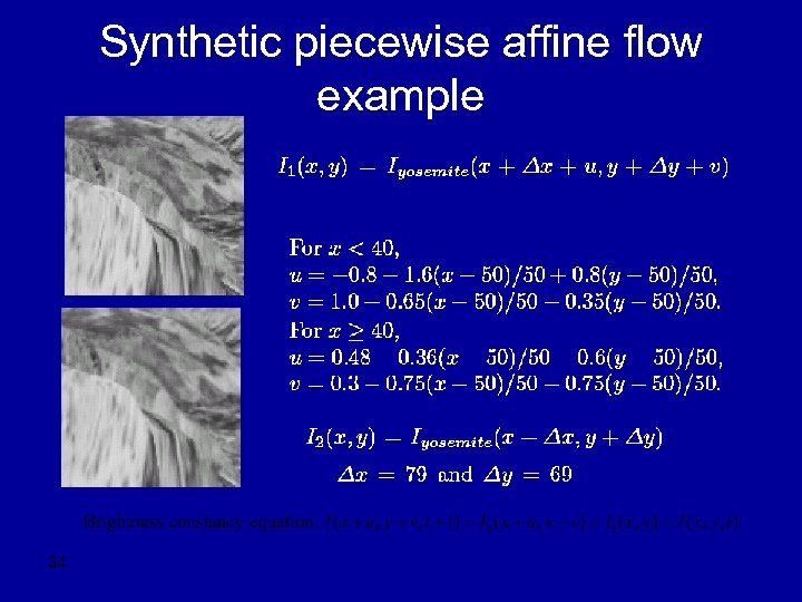 Synthetic piecewise affine flow example 34