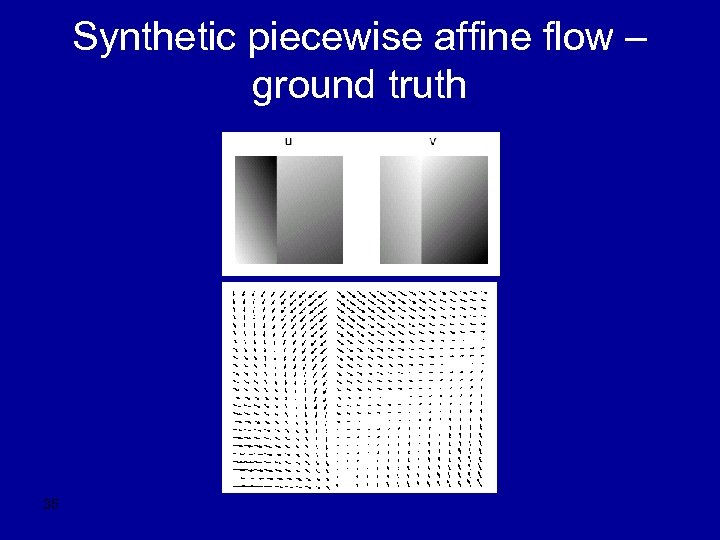 Synthetic piecewise affine flow – ground truth 35