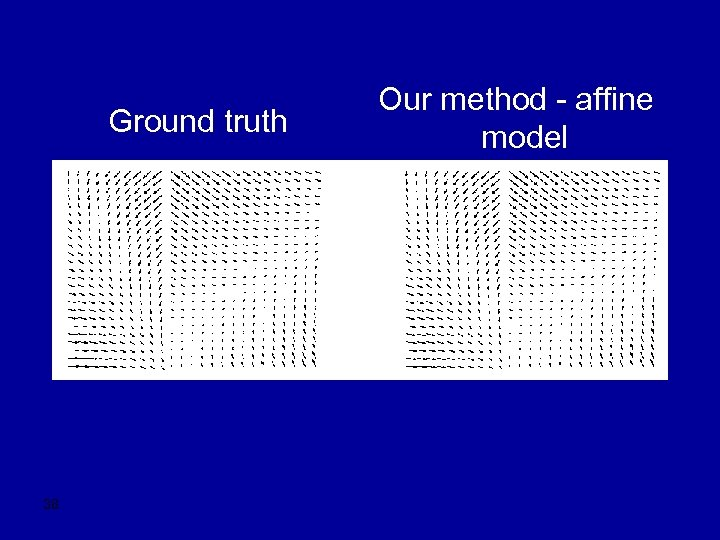 Ground truth 38 Our method - affine model