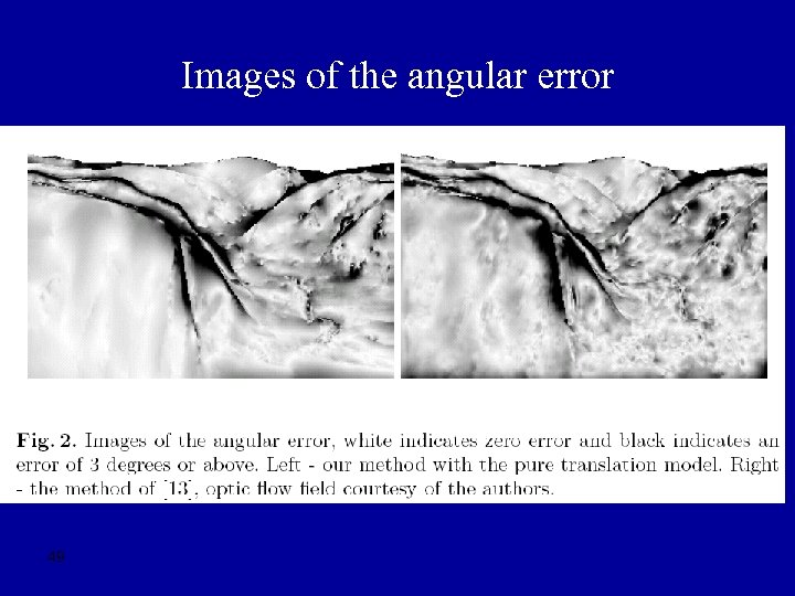 Images of the angular error 49