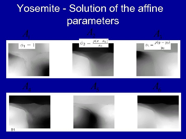 Yosemite - Solution of the affine parameters 51