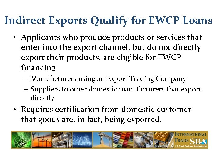 SBA Trade Financing Tools for Export Success