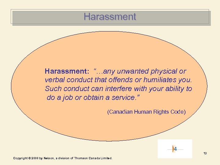 """Harassment: """"…any unwanted physical or verbal conduct that offends or humiliates you. Such conduct"""