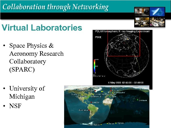 Virtual Laboratories • Space Physics & Aeronomy Research Collaboratory (SPARC) • University of Michigan