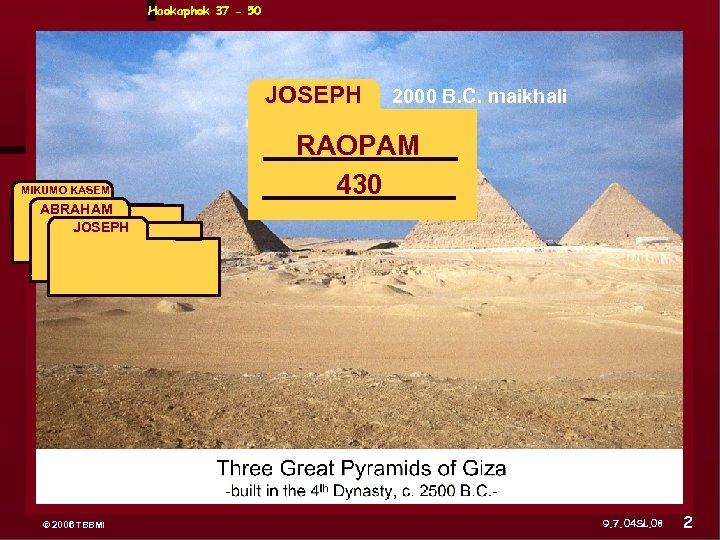 Haokaphok 37 - 50 JOSEPH MIKUMO KASEM ABRAHAM JOSEPH ABRAHAM 2000 B. C. maikhali