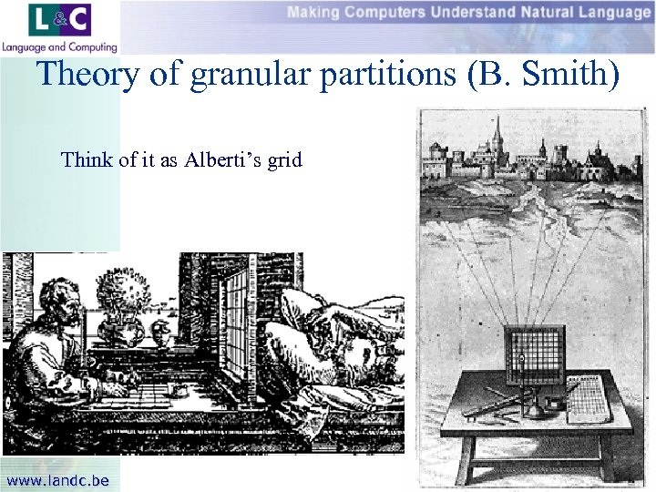 Theory of granular partitions (B. Smith) Think of it as Alberti's grid www. landc.