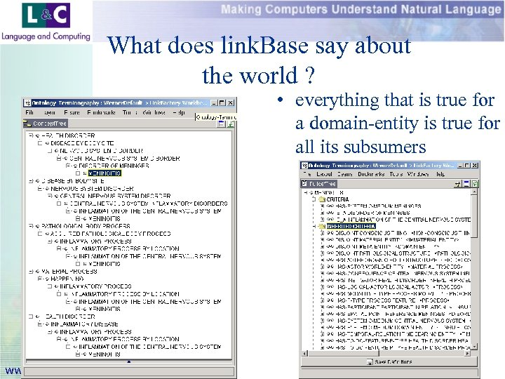 What does link. Base say about the world ? • everything that is true