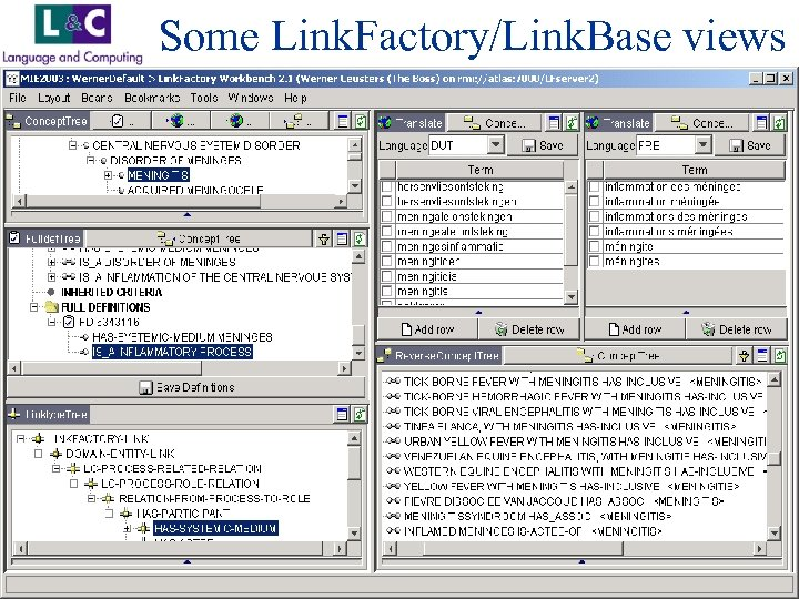 Some Link. Factory/Link. Base views www. landc. be