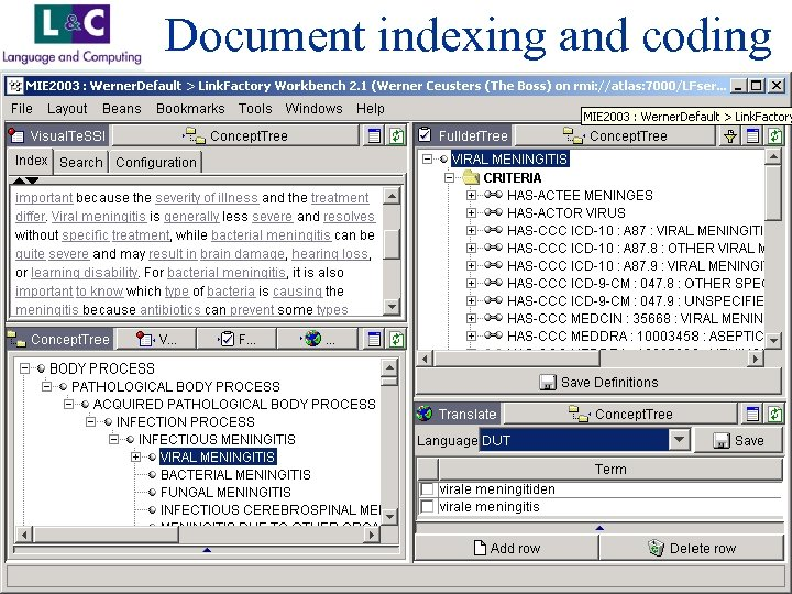 Document indexing and coding www. landc. be
