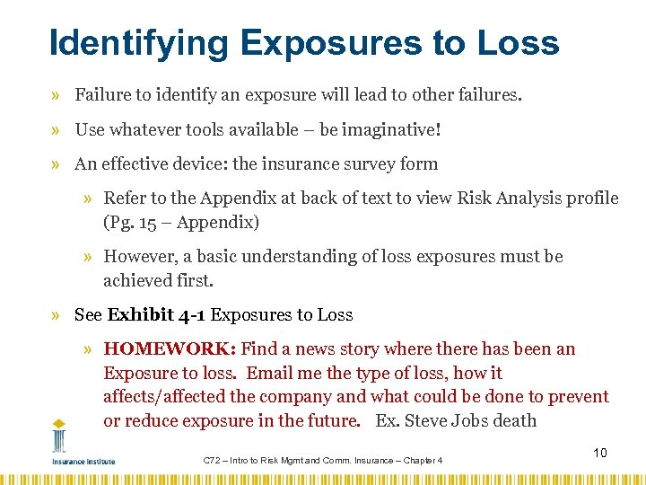 Identifying Exposures to Loss » Failure to identify an exposure will lead to other