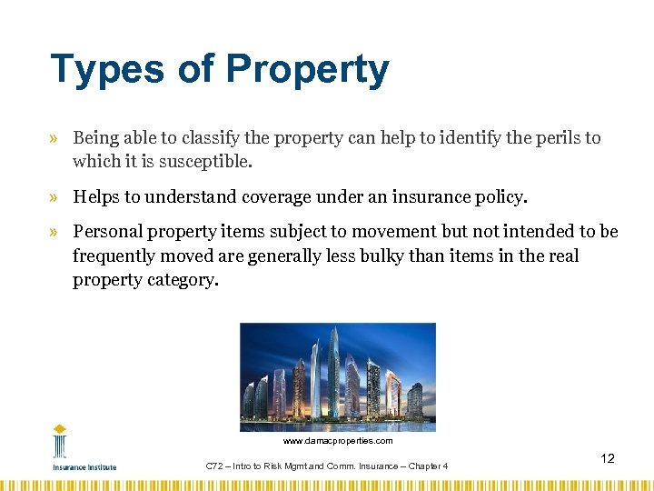 Types of Property » Being able to classify the property can help to identify