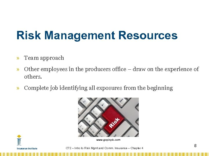 Risk Management Resources » Team approach » Other employees in the producers office –