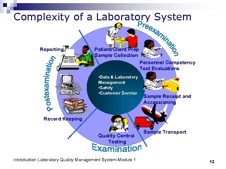 Complexity of a Laboratory System Reporting Patient/Client Prep Sample Collection Personnel Competency Test Evaluations