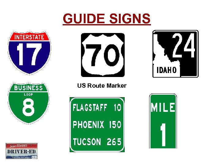 GUIDE SIGNS US Route Marker