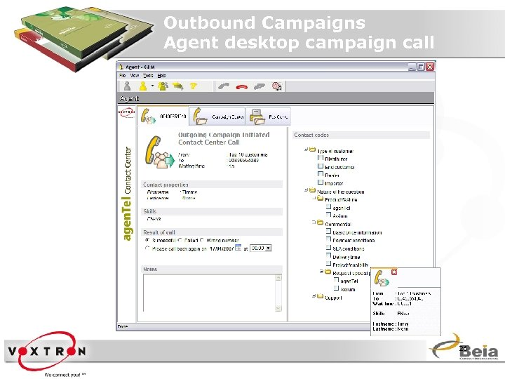 Outbound Campaigns Agent desktop campaign call 26