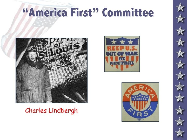 """America First"" Committee Charles Lindbergh"