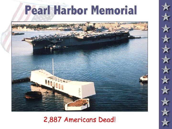 Pearl Harbor Memorial 2, 887 Americans Dead!