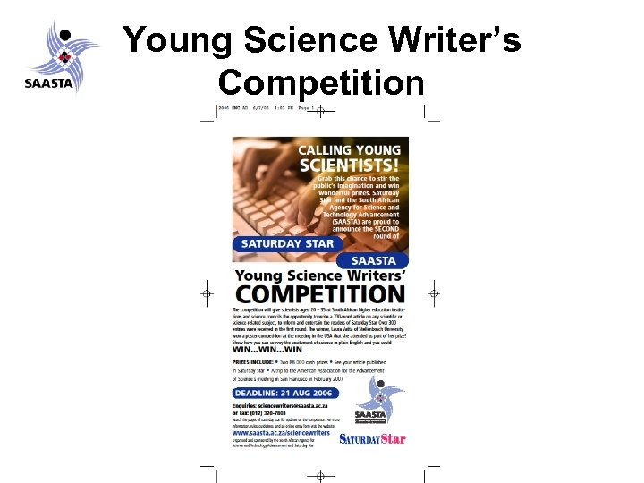 Young Science Writer's Competition