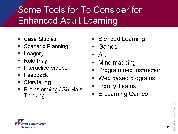 Some Tools for To Consider for Enhanced Adult Learning Case Studies Scenario Planning Imagery