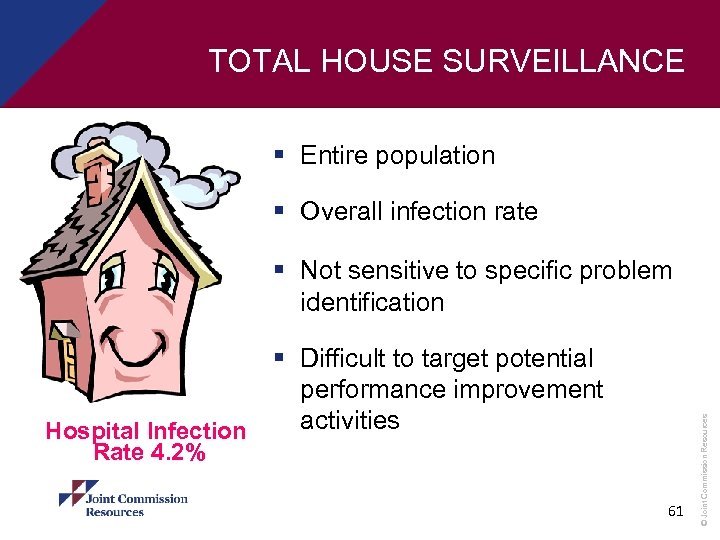 TOTAL HOUSE SURVEILLANCE § Entire population § Overall infection rate Hospital Infection Rate 4.