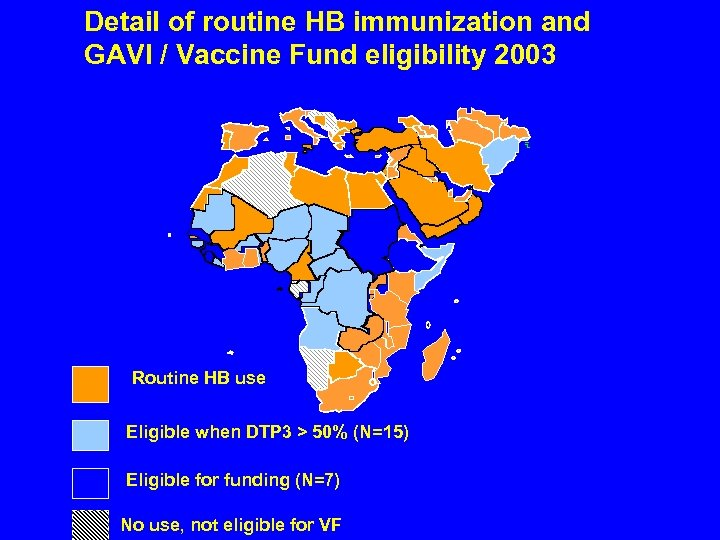 Detail of routine HB immunization and GAVI / Vaccine Fund eligibility 2003 Routine HB