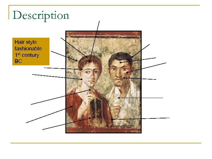 Description Hair style fashionable 1 st century BC