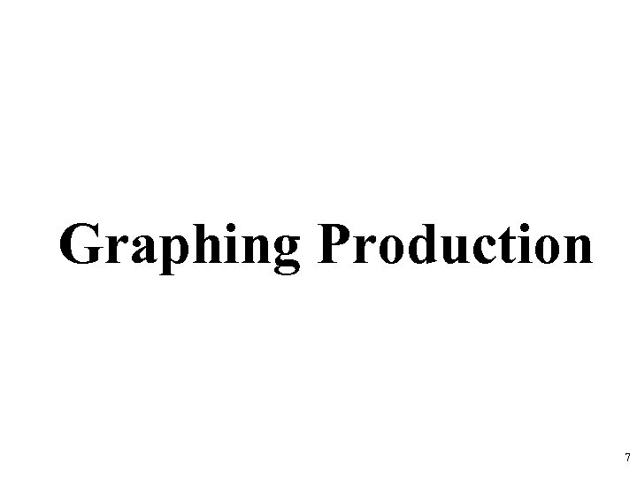 Graphing Production 7