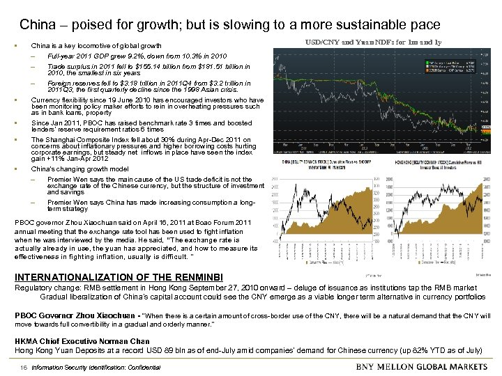 China – poised for growth; but is slowing to a more sustainable pace •