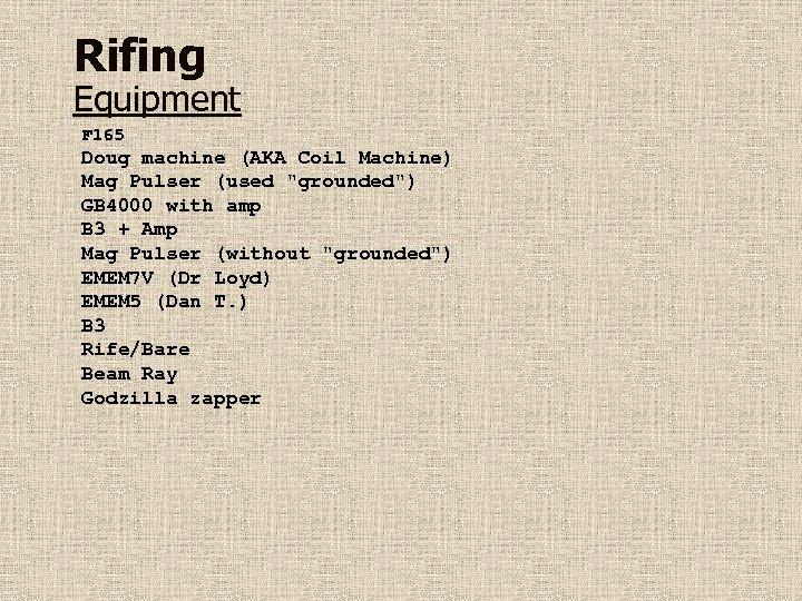 Rifing Equipment F 165 Doug machine (AKA Coil Machine) Mag Pulser (used