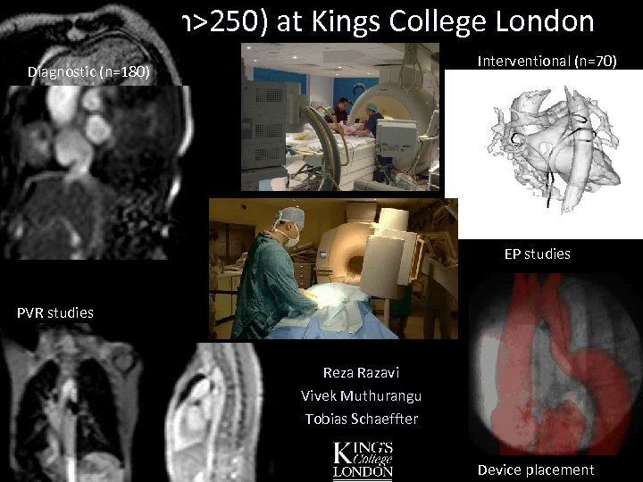 Patients (n>250) at Kings College London Interventional (n=70) Diagnostic (n=180) Over 250 patients XMR