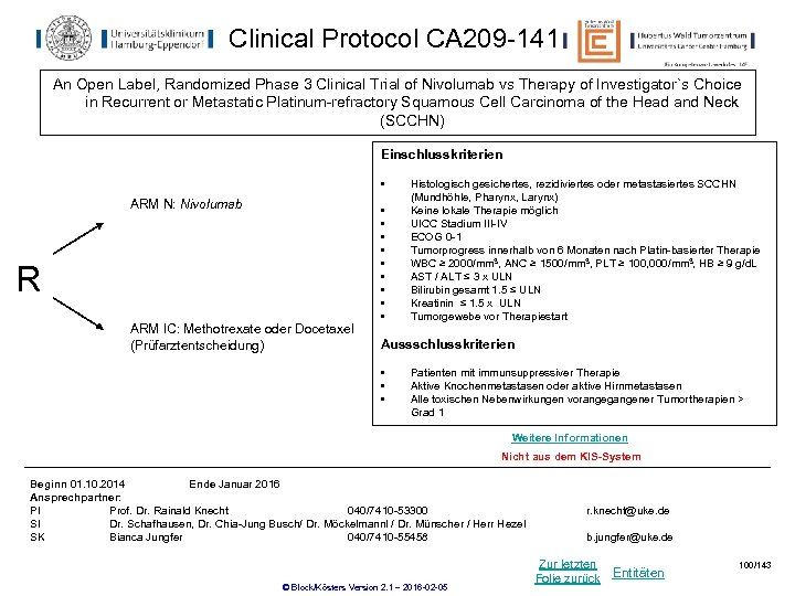 Clinical Protocol CA 209 -141 An Open Label, Randomized Phase 3 Clinical Trial of