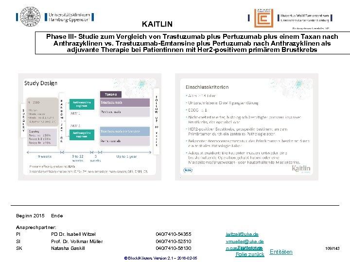 KAITLIN Phase III- Studie zum Vergleich von Trastuzumab plus Pertuzumab plus einem Taxan nach