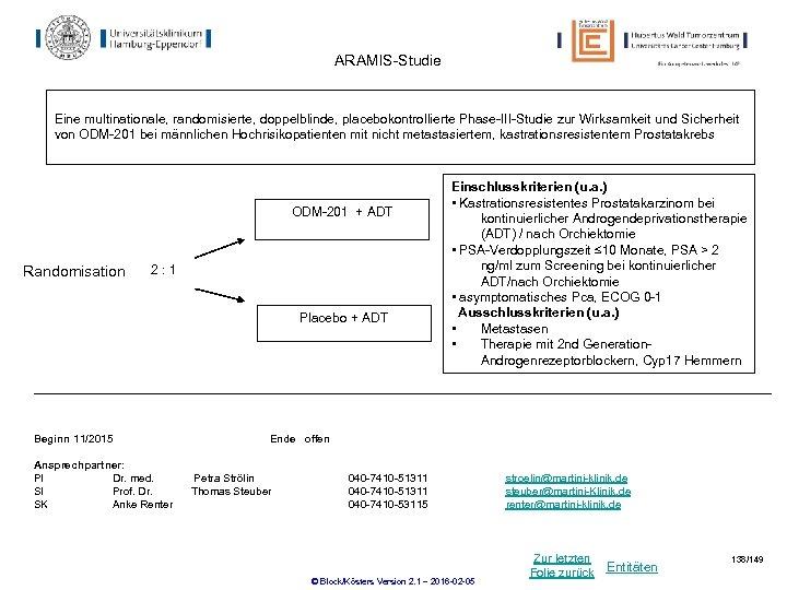 ARAMIS-Studie Eine multinationale, randomisierte, doppelblinde, placebokontrollierte Phase-III-Studie zur Wirksamkeit und Sicherheit von ODM-201 bei
