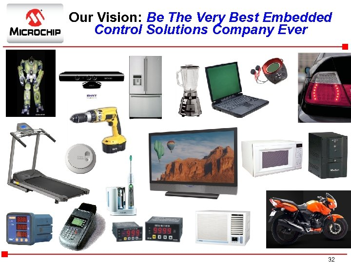 Our Vision: Be The Very Best Embedded Control Solutions Company Ever g 32