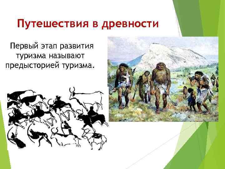 Путешествия в древности Первый этап развития туризма называют предысторией туризма.