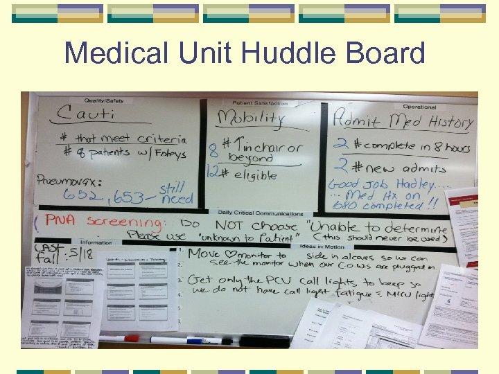 Medical Unit Huddle Board