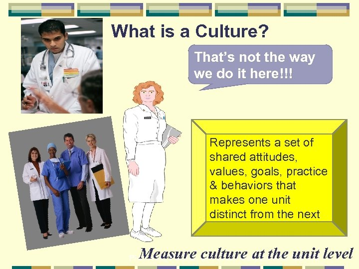 What is a Culture? That's not the way we do it here!!! Represents a