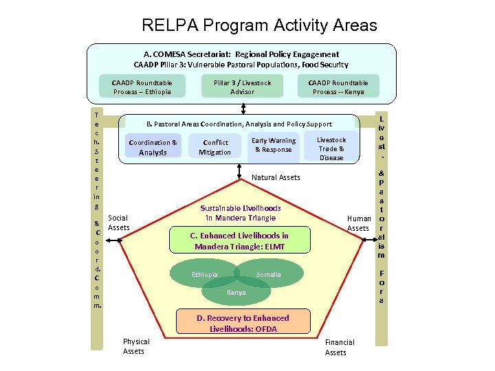 RELPA Program Activity Areas A. COMESA Secretariat: Regional Policy Engagement CAADP Pillar 3: Vulnerable