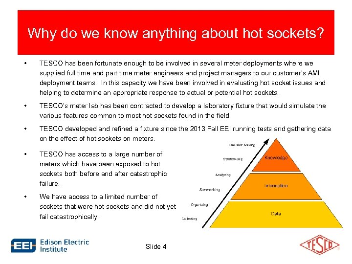 Why do we know anything about hot sockets? • TESCO has been fortunate enough