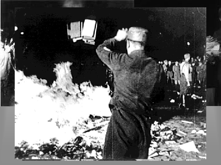 German Life Culture • Books written by Jews were publicly burned • Any un-German