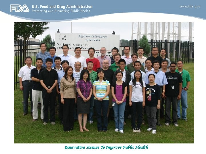 Innovative Science To Improve Public Health