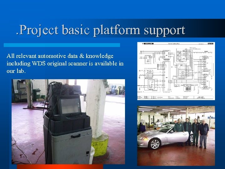 . Project basic platform support All relevant automotive data & knowledge including WDS original