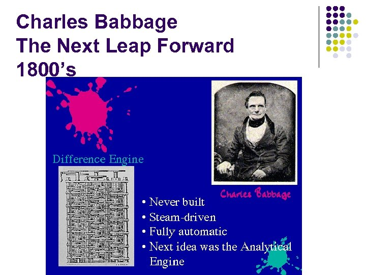 Charles Babbage The Next Leap Forward 1800's