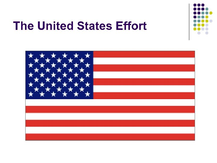 The United States Effort
