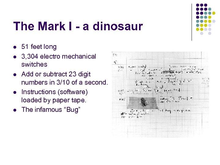 The Mark I - a dinosaur l l l 51 feet long 3, 304