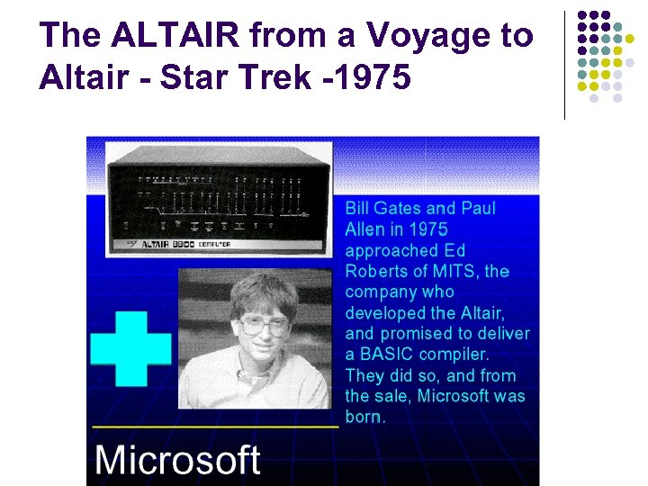 The ALTAIR from a Voyage to Altair - Star Trek -1975