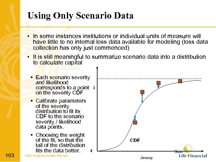 Using Only Scenario Data • In some instances institutions or individual units of measure