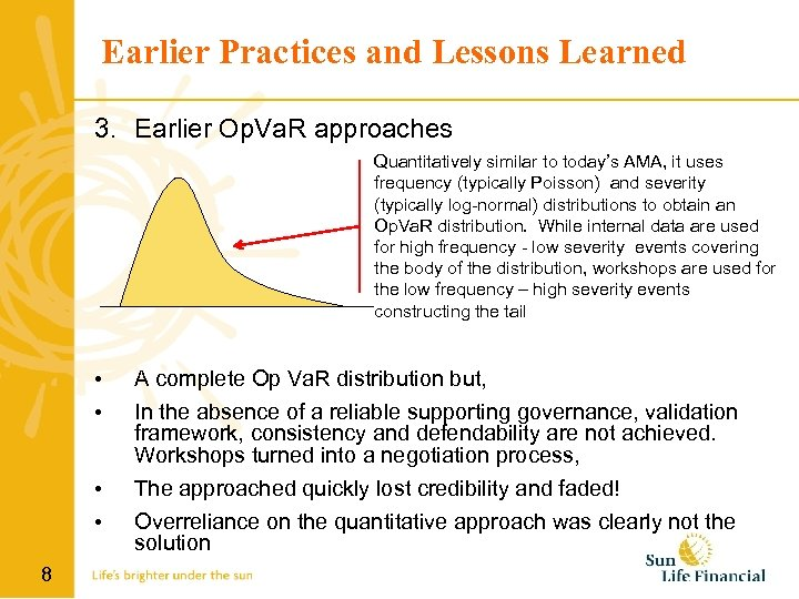 Earlier Practices and Lessons Learned 3. Earlier Op. Va. R approaches Quantitatively similar to
