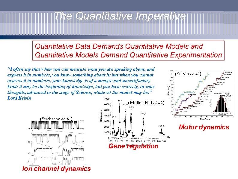The Quantitative Imperative Quantitative Data Demands Quantitative Models and Quantitative Models Demand Quantitative Experimentation