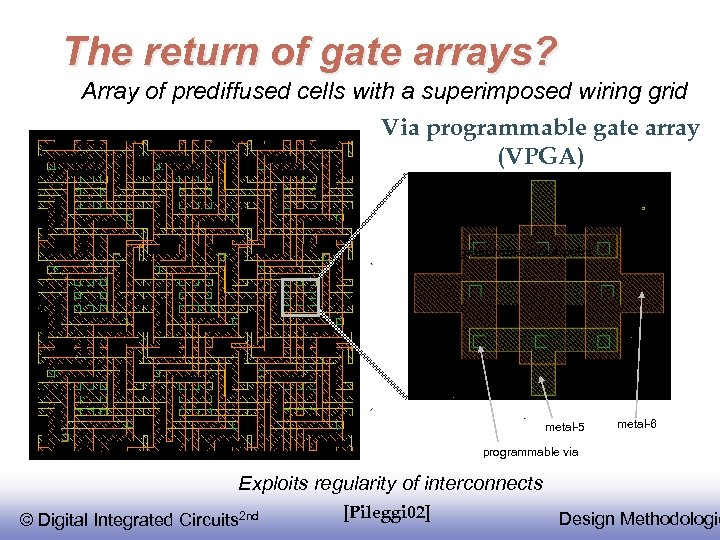The return of gate arrays? Array of prediffused cells with a superimposed wiring grid